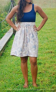 tutorial for diy tank dress.i've been wanting a cute casual dress and have been really wanting to use my sewing machine Diy Clothing, Sewing Clothes, Sewing Coat, Clothes Refashion, Fabric Sewing, Fabric Yarn, Barbie Clothes, Robe Diy, Inexpensive Dresses