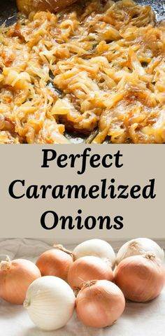 How To Make Perfect Caramelized Onions Every Time. All that You Need To Know About Making Perfect Caramelized Onions, From Peeling, Cutting, And Cooking Is Right Here In Our Caramelized Onion Recipe. Side Recipes, Veggie Recipes, Vegetarian Recipes, Dinner Recipes, Cooking Recipes, Sandwich Recipes, Picnic Recipes, Skillet Recipes, Potluck Recipes