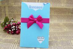 Handgemachte Chic blau Hochzeit Einladungskarten mit Multifunktionsleiste angepasst fügt & Ribbon Color erhältlich--Set von 50 Stk auf Etsy, CHF46.77