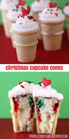 Christmas Cupcakes.. These would be so cute with a red or green gumball on top! :-) http://www.gumball.com/red-gumballs-2-lbs.aspx http://www.gumball.com/green-gumballs-2-lbs.aspx