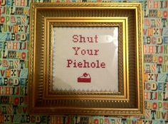 @Elle Gower i think me and @Kim Sizer and you should make a whole heap of these abusive and thug life cross stitches for a wall art in your room... thoughts??