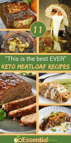 11 of the best keto meatloaf recipes. These keto friendly recipes include a classic meatloaf recipe and bacon and cheese adaptations. There are recipes with almond flour, coconut flour, flax meal, zucchini and no binders at all besides egg. No Carb Meatloaf Recipe, Low Carb Meatloaf, Classic Meatloaf Recipe, Meat Loaf Recipe Easy, Meatloaf Recipes, Keto Foods, Ketogenic Recipes, Low Carb Recipes, Diet Recipes