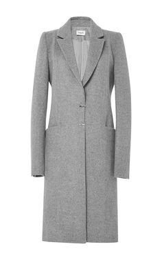 MUGLER Soft Peacoat In Heather Grey by MUGLER for Preorder on Moda Operandi 3400