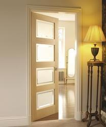 4 Panel Oak Shaker Glazed   Internal Hardwood Doors   Doors & Joinery   Howdens Joinery
