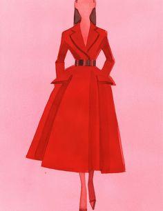 Silhouette Dior haute couture automne-hiver 2012-2013 par Mats Gustafson