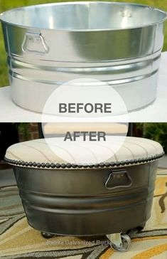 Are old galvanized buckets in your home thrown out? You may stop throwing it, they are useful. You may reuse galvanized buckets. These old stuff can add environmentally friendly and fun. You can make some changes and transform its look into something useful and beautiful.