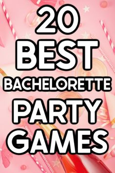 20 funny and unique bachelorette party games that work whether you're headed out or staying at home! Everything from a man scavenger hunt to tons of printable girls night games, there are hilarious ideas for every type of party!