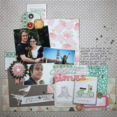 scrapbook page with dear lizzy supplies #5thFrolic #americancrafts #dearlizzy