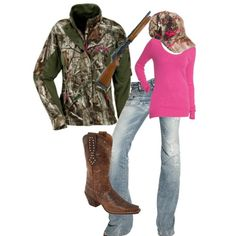 Cute camo outfit! No pink though...with bright orange or yellow