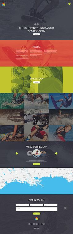 Template 56072 - Wakeboarding Runner  Responsive Website Template