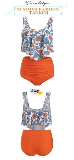 Grasp your order, summer fashion items. Swimsuits For Teens, Modest Swimsuits, Neck Pattern, Bra Styles, Set Design, Design Model, The Fresh, Tankini, Floral Prints