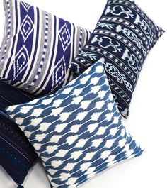 INDIGO JASPE PILLOW naturally dyed by hand in Guatemala  | Ara Collective