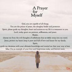 #Prayer for #Myself