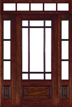 Classic front Door with one panel sidelight 1/4   Front Doors and ...