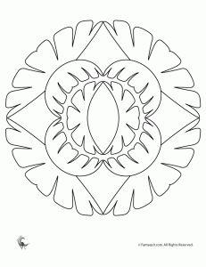lotus mandala 231x300 Mandalas simples simples para as crianças