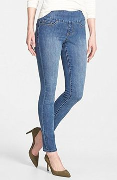 Jag Jeans Womens Nora Pull On Skinny Jean in Comfort Denim High Tide 4 -- Check out the image by visiting the link. (This is an affiliate link) Pull On Jeans, Denim Jeans, Women's High Rise Jeans, Anniversary Sale, Skinny Fit Jeans, Bell Bottom Jeans, Nordstrom, Clothes For Women, My Style