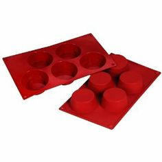 """Fat Daddio's 5-Cup Silicone Muffin Baking Pans, Case of 6 by Fat Daddio's. $49.30. Each cup holds 4-5/9 oz.. FDA-approved food grade silicone. Mold has 5 cups. Mold is 12"""" x 7"""". Fat Daddio's muffin silicone baking molds are made of non-stick FDA-approved food grade material and can withstand temperatures up to 550 degrees. Perfect for delicate candy, chocolate or muffins, the flexible silicone allows for easy release and little to no pre-greasing. For 43 years,..."""