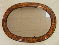 Brunschwig and Fils faux tortoiseshell mirror.