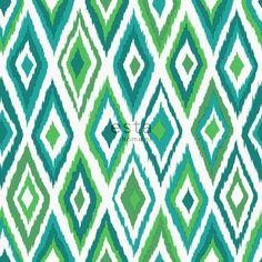 148632 chalk printed eco texture non woven wallpaper Ikat Green
