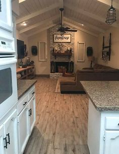 For a loft or second story MIL quarters. If you have finally decided to posit… Mobile Home Renovations, Home Remodeling, Next At Home, First Home, Home Living Room, Living Room Decor, Hygge, My New Room, House Rooms