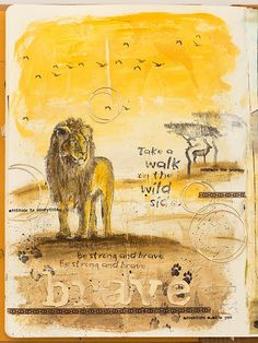 Project: African Wild Life Journal Page