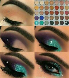 Gorgeous Makeup: Tips and Tricks With Eye Makeup and Eyeshadow – Makeup Design Ideas Makeup Eye Looks, Eye Makeup Steps, Skin Makeup, Teal Eye Makeup, Makeup Eyeshadow, Makeup Light, Makeup Brushes, Green Makeup, Good Makeup