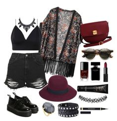 """Festival #3"" by kisskatabogi ❤ liked on Polyvore featuring WithChic, Topshop, Christys', The Code, Narciso Rodriguez, Chanel, NARS Cosmetics, Ippolita and Yves Saint Laurent"