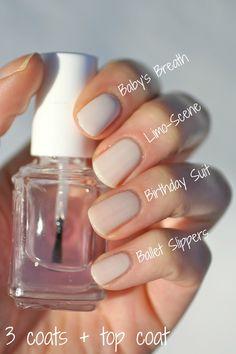 Essie Sheer Nude Comparison  | Essie Envy