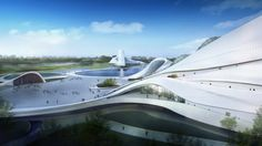 Image 15 of 34 from gallery of Harbin Cultural Center / MAD Architects. Photograph by MAD Architects Harbin, A As Architecture, Futuristic Architecture, Parametric Architecture, Zaha Hadid Architects, Famous Architects, Wetland Park, Architect Logo, Architect House