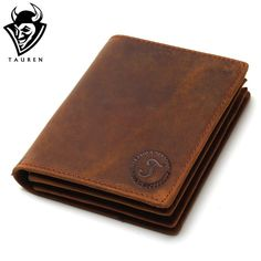 2016 Vintage Crazy Horse Handmade Leather Men Wallets Multi-Functional Cowhide Coin Purse Genuine Leather Wallet For Men -- This is an AliExpress affiliate pin. Item can be found on AliExpress website by clicking the VISIT button Crazy Horse, Cowhide Leather, Cow Leather, Vintage Leather, Men's Vintage, Fashion Vintage, Vintage Style, Wholesale Purses, Bags Travel