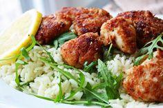 Crispy Honey Lemon Chicken auf Rucola-Reis - Cinnamon&Coriander