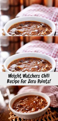 This healthy three bean and ground lean meat Weight Watchers chili recipe is ZERO points on the Freestyle program! It's filling and delicious. Make in the pressure cooker or crockpot! Healthy Meat Recipes, Pork Chop Recipes, Spicy Recipes, Chili Recipes, Salmon Recipes, Grilling Recipes, Mexican Food Recipes, Cooking Recipes, Weight Watchers Chili