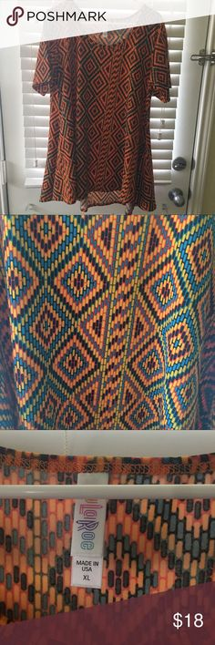 NWOT XL LuLaRoe Perfect T Removed tags and tried on. LuLaRoe Tops