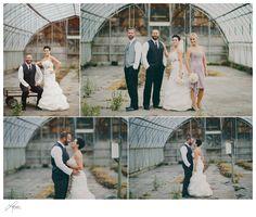 Wedding photos in a greenhouse www.loreephotography.com