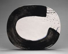 "Jun Kaneko  Untitled, 1996   glazed ceramic	  22""x26.5""x3.75"""