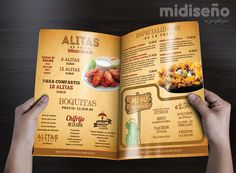 Diseño Gráfico de Menús para Restaurantes y Cafés www.midisenocostarica.com #DiseñoGrafico #CostaRica #Diseñadores #Marcas #Empaques #CostaRica #Menus