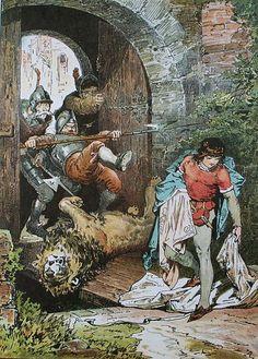 Das Märchen vom Witzenspitzel; Darstellung von Alexander Zick (1845 - 1907)