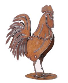 Rooster Metal Garden Sculpture