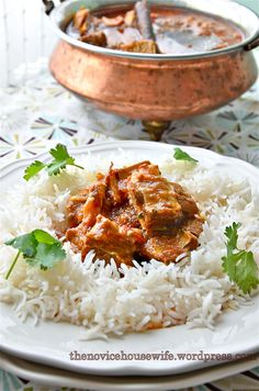 Mutton patiala... lamb stew over rice.