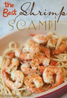 Seafood Recipes : Best Shrimp Scampi Recipe
