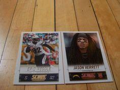 #JasonVerrett RC #EricWeddle #2014PaniniScore #SanDiegoChargers 2 Card Lot | #eBay #SanDiego #footballcards