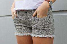 @roxy Women's Leopard Cutoffs. Holiday Wear, Cutoffs, Rip Curl, Roxy, Casual Shorts, Essentials, Vacation, Denim, How To Wear