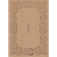 Bordo per centrino n. 139 - Il Giardino dei Punti, Circolo di ricami, pizzi e decori