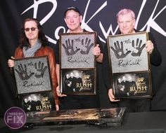 Canadian Rock Band 'Rush' Honored on RockWalk in Hollywood (photos)