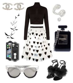 """""""Nyfw"""" by ai0807 on Polyvore featuring Alice + Olivia, BCBGMAXAZRIA, Topshop, Chanel, Illamasqua, Linda Farrow, Marc by Marc Jacobs, women's clothing, women and female"""