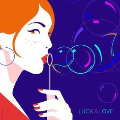 ✨2017 : A magical year full of LUCK & LOVE✨ #illustration #vectorart #2017 #newyear #newyear2017 #happynewyear #bullesdesavon #bubbles