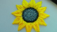 Hand Embroidery Patterns Flowers, Hand Embroidery Videos, Embroidery Stitches Tutorial, Embroidery Flowers Pattern, Hand Embroidery Designs, Hand Embroidery Dress, Creative Embroidery, Simple Embroidery, Sunflower Flower