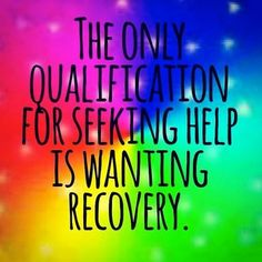 All you need is a willingness to recover.