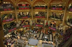 Galeries Lafayette from balcony.