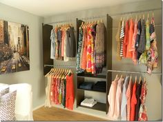 Want this in my laundry room.  (old houses, no closet space)  DIY Walk-In Closet || Jimmy Choos on the Treadmill